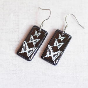 Butterflies earrings black 4