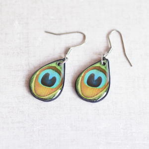 Earrings Peacock