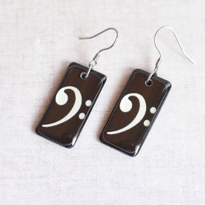 Earrings Bass Clef 1