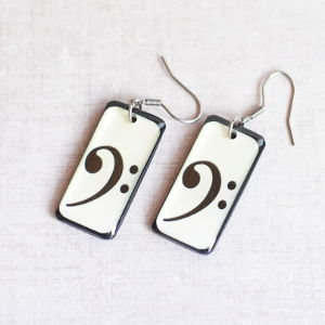 Earrings Bass Clef 2