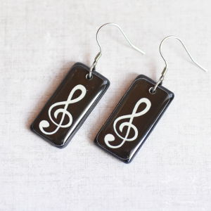 Earrings Treble Clef 1