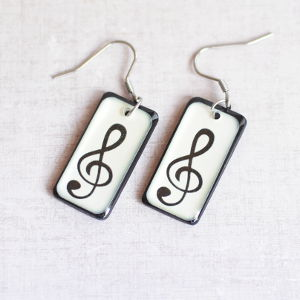 Earrings Treble Clef 2
