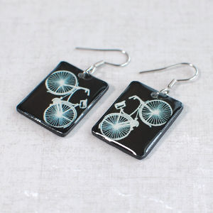 Earrings Bike black