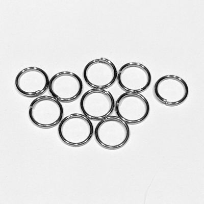 Split ring 9x1 mm steel 304, 10 pcs