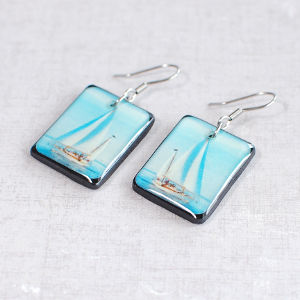 Earrings Sailboat