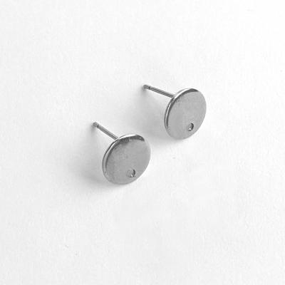 Ear studs 10 mm with hole steel 304, 1 pair