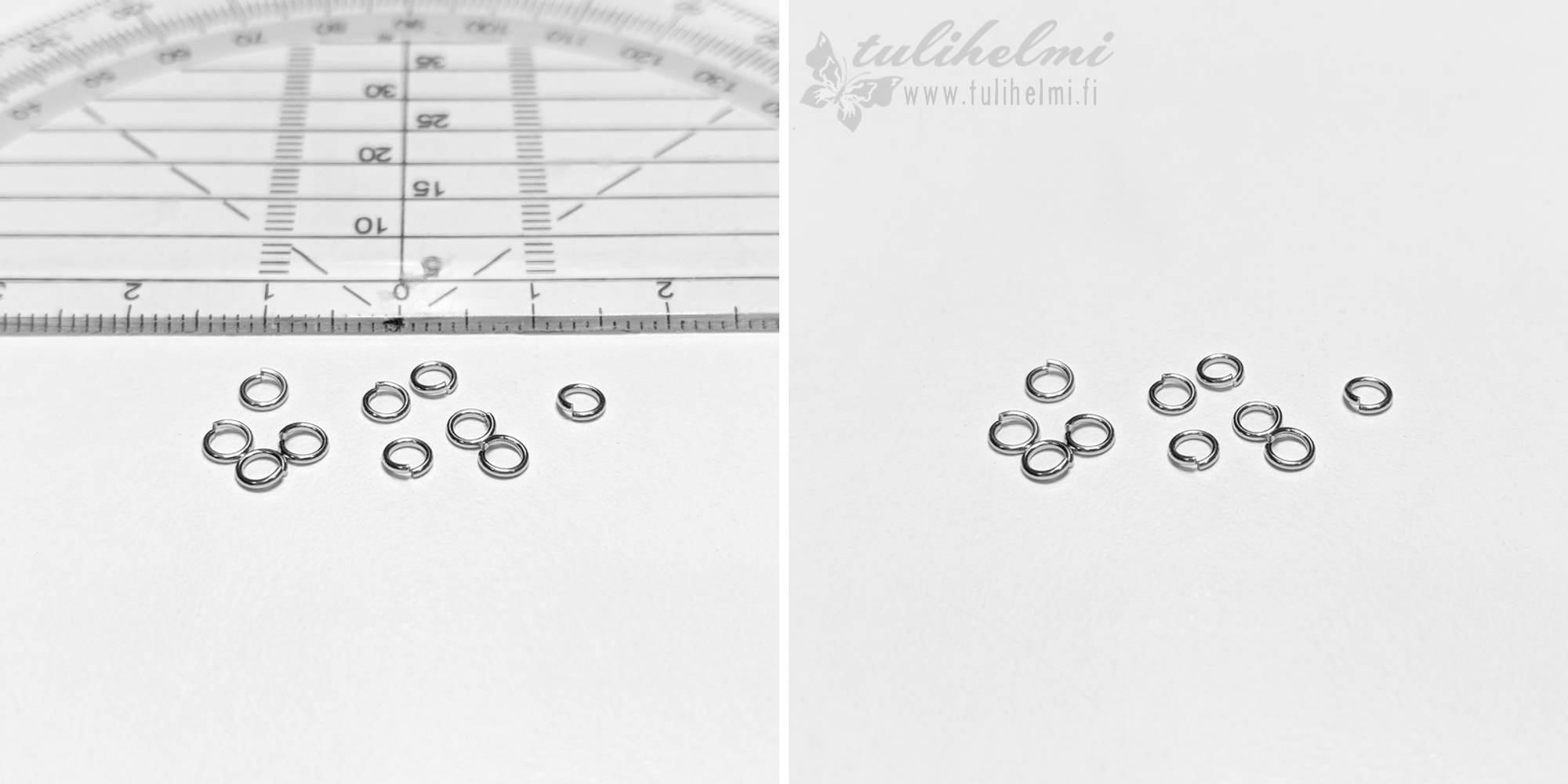 Split ring 3,5x0,6 mm steel 304, 10 pcs