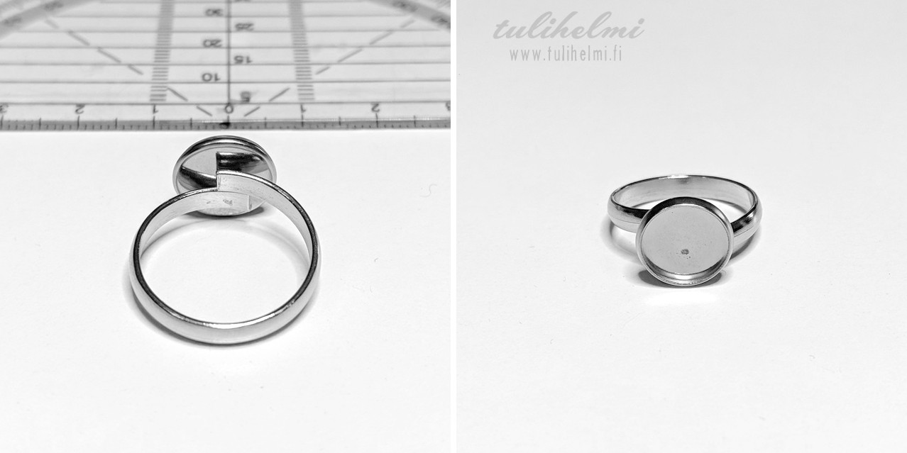 Ring setting 14 mm steel 304, 1 pc
